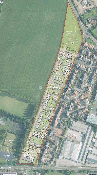 Calverton, Nottingham Siteplan