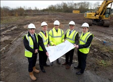 WORK STARTS ON 1ST PHASE OF NEW £7.5 MILLION GERARDS PARK, 30,000 SQ FT INDUSTRIAL SCHEME IN ST HELENS